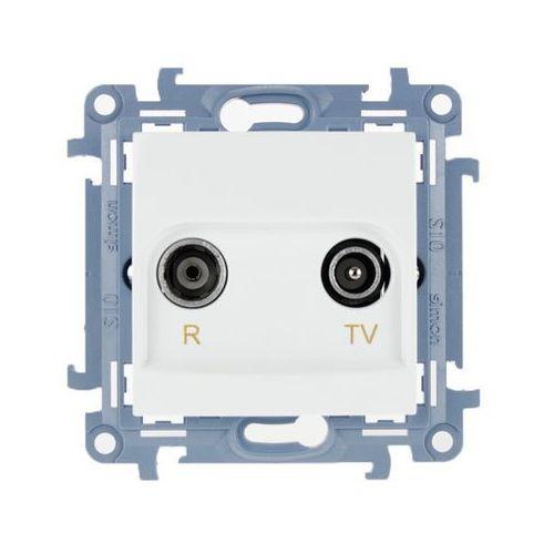 kontakt-simon Gniazdo antenowe rtv przelotowe 10db białe cap10.01/11 kontakt simon10 (5902787842819)