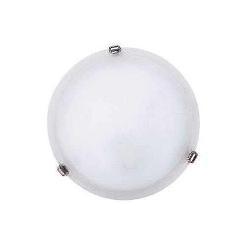 Plafon lampa sufitowa alabastro/duna 1x60w e27 biały/chrom 3202 marki Rabalux