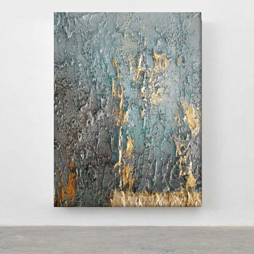 TURQUOISE ACCENT - Wielkoformatowy obraz na płótnie abstrakcyjny art&texture™