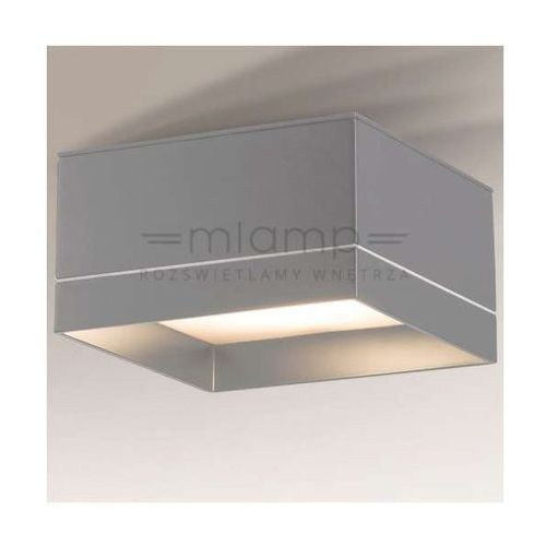 Natynkowa lampa sufitowa tosa 1183/gx53/sz  metalowa oprawa plafon kostka szara marki Shilo