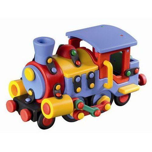 Mic-o-mic - zabawki konstrukcyjne Zestaw do składania mic-o-mic wesoły konstruktor lokomotywa