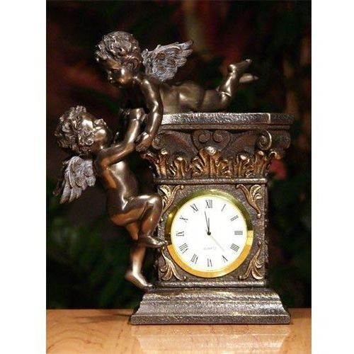 Kominkowy zegar z aniołkami marki Veronese