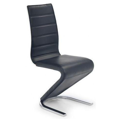 Krzesło metalowe w stylu nowoczesnym Altel - czarne, kolor czarny