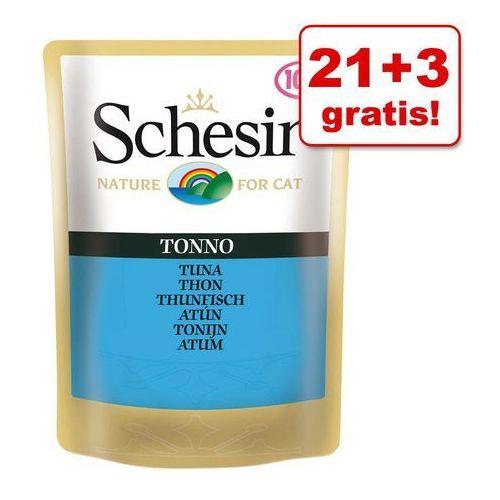 Schesir 21 + 3 gratis! w galarecie, 24 x 100 g - paski kurczaka w sosie (8005852015808)