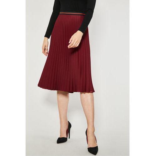 Czerwona spódnica plisowana Metu, plisowana
