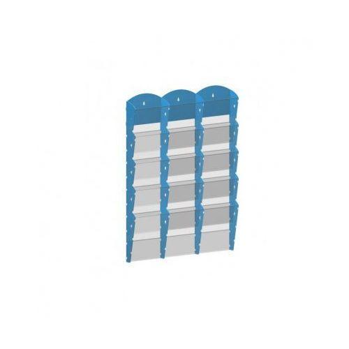 B2b partner Plastikowy uchwyt ścienny na ulotki - 3x5 a5, niebieski