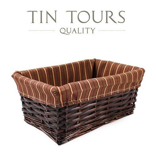 Wiklinowa szuflada z wyszyciem 29x19x12h cm marki Tin tours sp.z o.o.