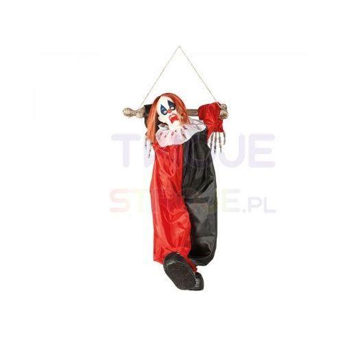 Twojestroje.pl Kukła klaun wisząca czarno-czerwona 75cm (8434077262382)