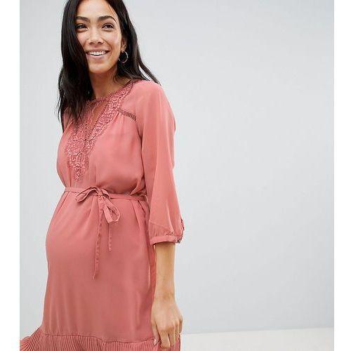 Mamalicious ruffle hem occasion dress - pink, Mama.licious, 38-40