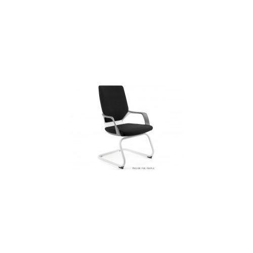 Krzesło biurowe apollo skid biały/czarny marki Unique meble