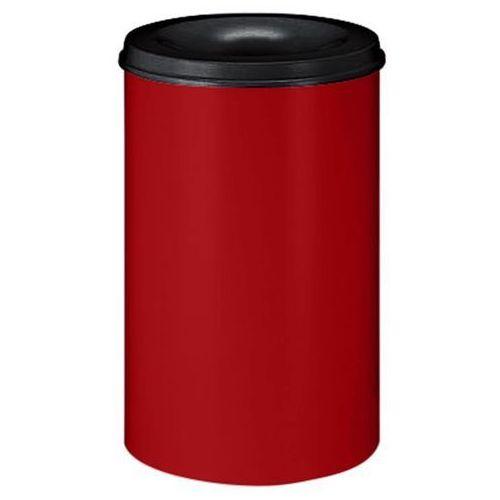 Bezpieczny kosz na papier, poj. 110 l, wys. 710 mm, czerwony. korpus z blachy st marki Vepa bins