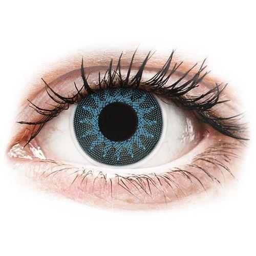 Maxvue vision Soczewki kolorowe niebieskie solar blue crazy lens 2 szt. (9555644810641)