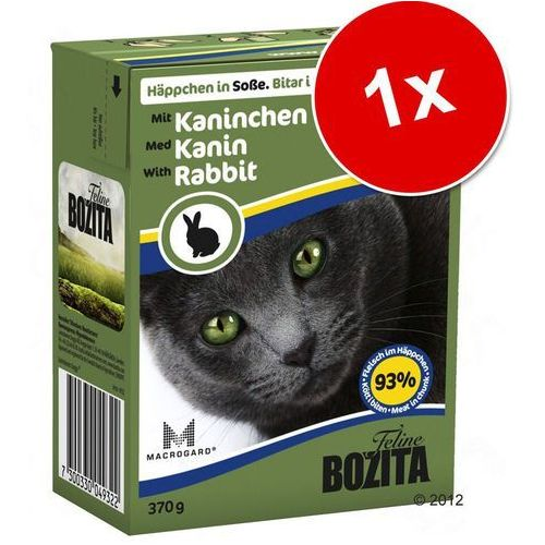 Bozita - karma dla kotów, kawałeczki mięsa w sosie, królik 370 g