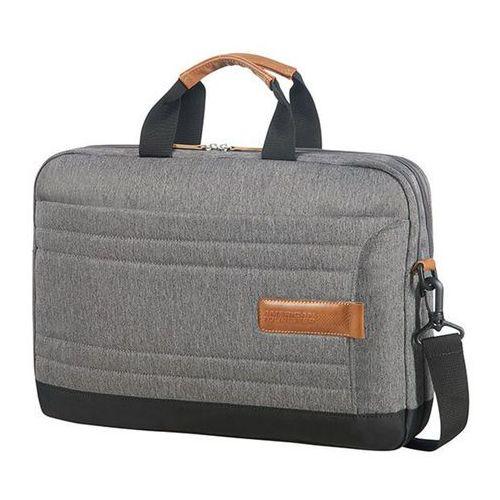"American Tourister SonicSurfer Lifestyle teczka / torba na laptopa 15,6"" / na tablet 10,1"" / szaro-brązowa - Herringbone (5414847822575)"