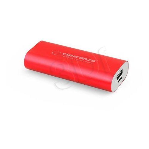 Esperanza  power bank hadron 4400mah czerwony darmowa dostawa do 400 salonów !! (5901299910573)