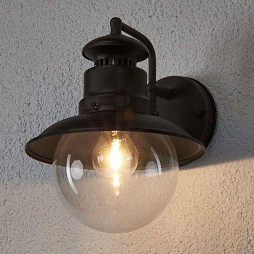 Romantyczna okrągła lampa zewnętrzna rdzawobrązowa IP44 - Eddie
