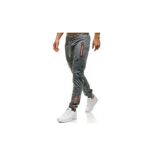 Red fireball Spodnie męskie dresowe joggery szare denley w1331
