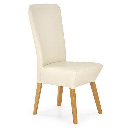 Krzesło drewniane Sufix 2X - kremowe, kolor beżowy