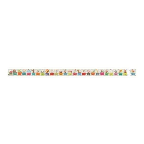 Puzzle w walizce - pociąg alfabet j02928 marki Janod