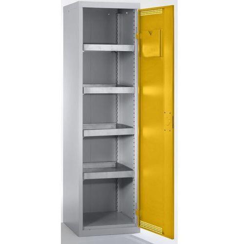 Szafa ekologiczna, drzwi perforowane, wys. x szer. x głęb. 1800x500x500 mm, 4 pó marki Stumpf-metall