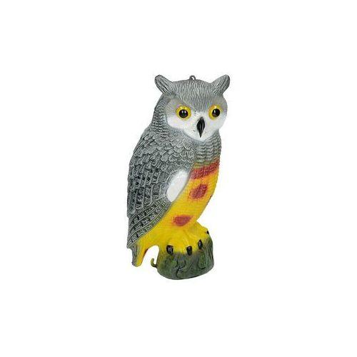 Sowa duża, sylwetka ptaka drapieżnego (model).