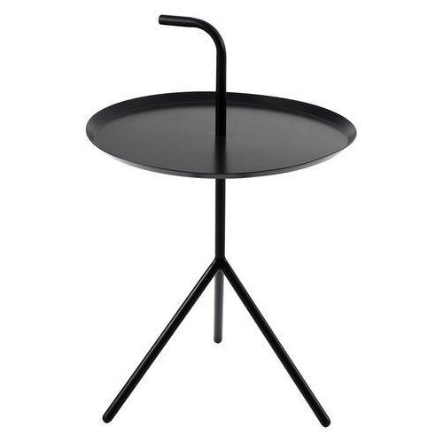 King home Metalowy stolik z blatem w kształcie tacy i uchwytem blanco