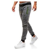 Spodnie męskie dresowe joggery grafitowe Denley KK532