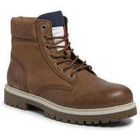 Trapery TOMMY JEANS - Outdoor Nubuck Boot EM0EM00316 Tobacco Brown 203