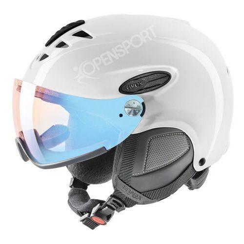 KASK NARCIARSKI UVEX HLMT 300 VISOR VARIOMATIC FOTOCHROM WHITE M - produkt z kategorii- Kaski i gogle