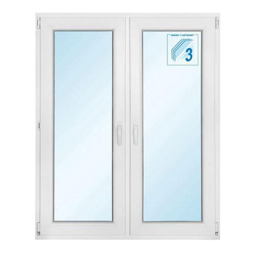Okno PCV rozwierne + rozwierno-uchylne trzyszybowe 1165 x 1435 mm symetryczne (5908275610083)