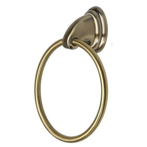 Wieszak łazienkowy okrągły BA-DE Amber Złoty (5907582108849)