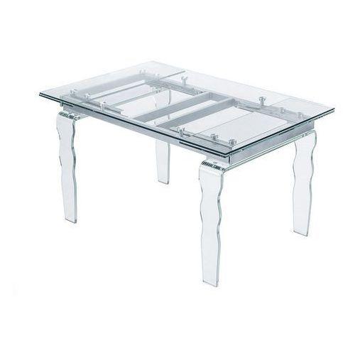 Stół szklany vendome opti white biały - 200/300 marki King home