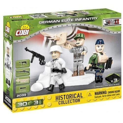 Cobi Historical collection wwii figurki german elite infantry 30 klocków + 3 figurki 2039