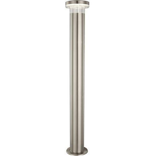 Globo Zewnętrzna lampa stojąca sergio 34148  metalowa oprawa ogrodowa led ip44 outdoor tuba srebrny (9007371247011)