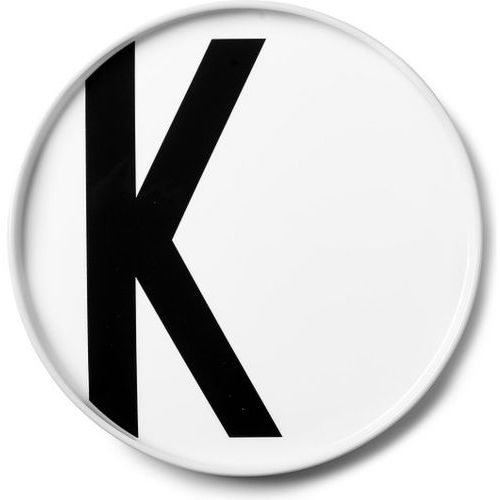 Design letters Talerz porcelanowy aj litera k