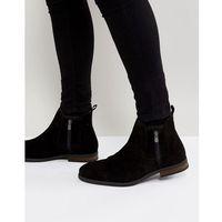 Call It Spring Ocade Suede Zip Boots In Black - Black