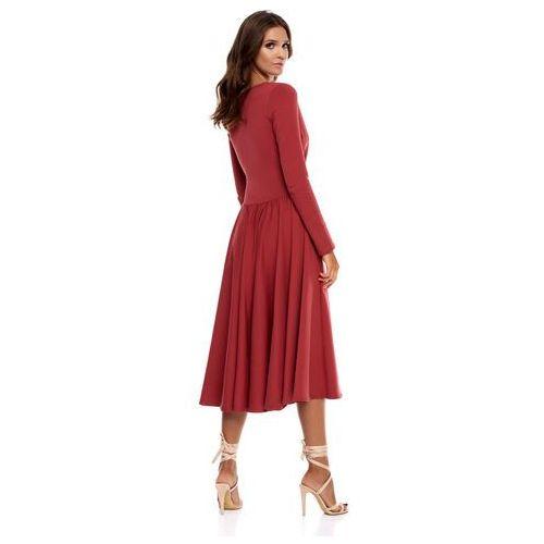 Sukienka Cosenza w kolorze marsala, 1 rozmiar