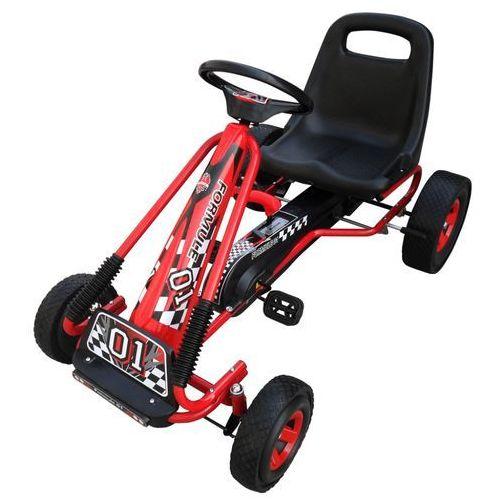 vidaXL Gokart na pedały w kolorze czerwonym z regulacją odległości siedzenia