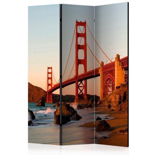 Parawan 3-częściowy - Most Golden Gate - zachód słońca, San Francisco [Room Dividers]