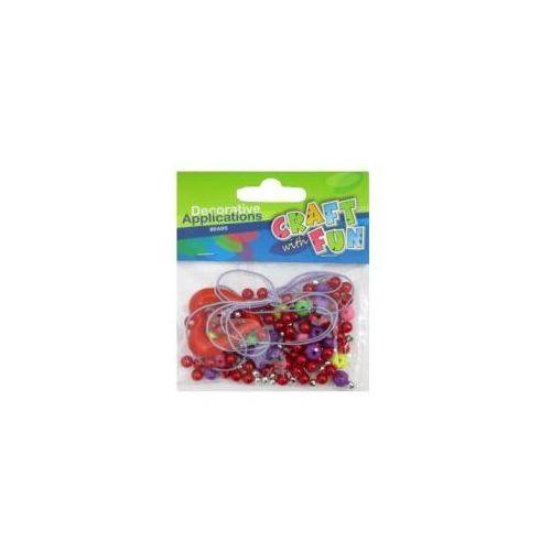 Ozdoba dekoracyjna - koraliki serce mix marki Euro-trade