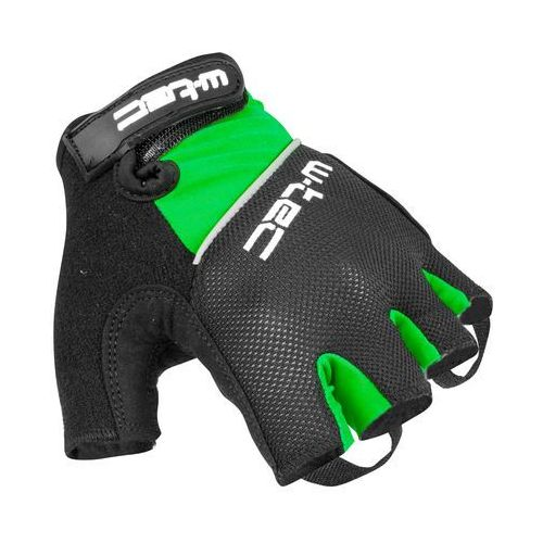 Rękawice kolarskie bravoj amc-1018-15, zielono-czarny, xxl marki W-tec