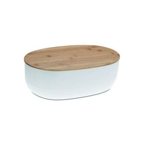 Kela chlebak NAMUR plastik/drewno, biały (4025457120602)