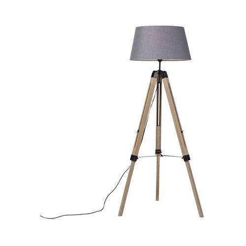 Trio leuchten Wiejska drewniana lampa podłogowa w szarym odcieniu - statyw