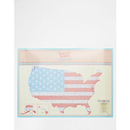 Luckies United States Of America Travel Scratch Map - Multi - produkt z kategorii- Gadżety