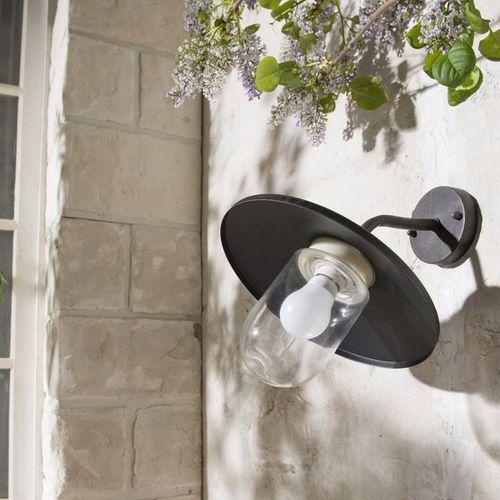 Inspire Hobart - applique d'extérieure descendante métal & verre p34cm-