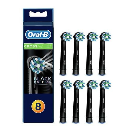 BRAUN Oral-B CrossAction EB50-8 BLACK 8 szt. - końcówki do szczoteczek elektrycznych Oral-B w kolorze CZARNYM, 04208