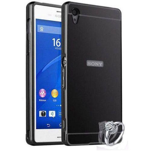 Mirror Bumper Metal Case Czarny | Etui dla Sony Xperia Z5