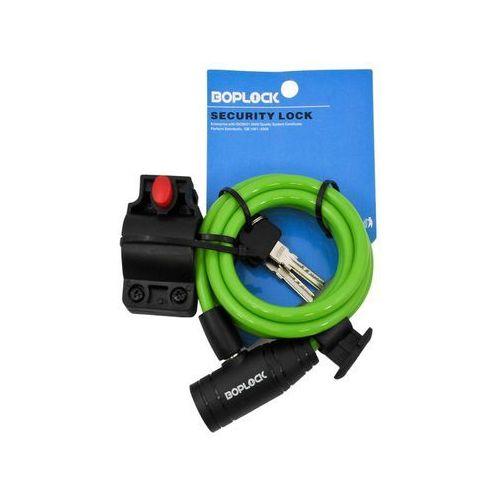 Zapięcie rowerowe BOPLOCK TY506 Spiral 1500 x 8 mm Zielony + Trzecie akcesorium gratis! (2010000363911)