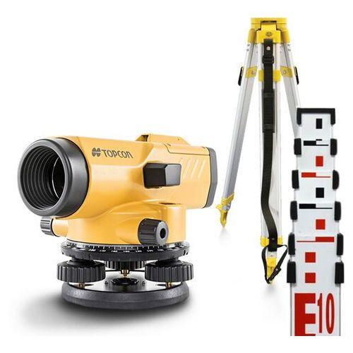 Niwelator optyczny Topcon AT-B4A (grady) + statyw + łata 5m