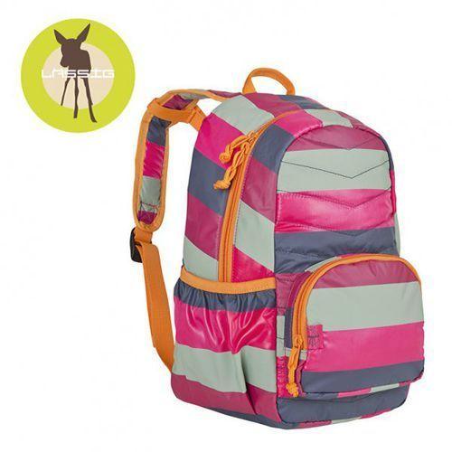 Lassig Plecak szkolny lekki pikowany Striped magenta, kolor różowy